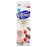 Optimel Drinkyoghurt aardbei kers 1 liter