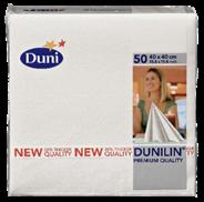Dunilin Servetten wit 40 x 40 cm 50 stuks
