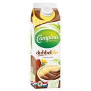 Campina Dubbelvla Chocolade en vanille 1 liter