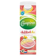 Campina Dubbelvla Aardbei en vanille 1 liter