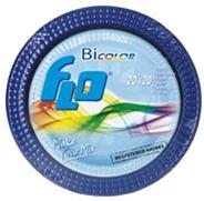 Depa Plastic bicolor borden blauw 40 stuks