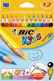 Bic Evolution triangle kleurpotloden 12 stuks
