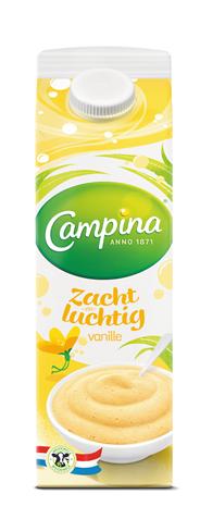 Campina Dessert Zacht en Luchtig Vanille 1 l Pak met punt
