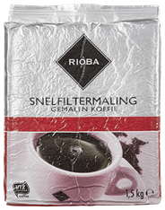 Rioba rood Snelfilter koffie1,5 kg
