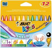 Bic Plastidecor Kleurkrijtjes 12 stuks