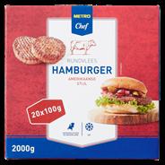 Horeca select Amerikaanse hamburger diepvries 20 x 100 gram
