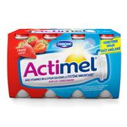Danone Actimel Aardbei 12 x 100 gram