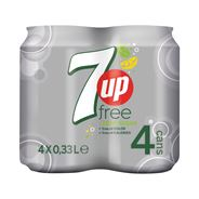 7UP Free of Sugar 4 x 0,33 Liter