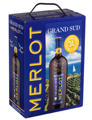 Grand Sud Merlot bag in box 3 liter