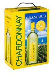 Grand Sud Chardonnay bag in box 4 x 3 liter