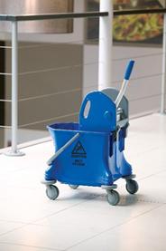 Vero Rolemmer 25 liter + pers kunststof blauw