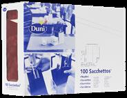 Duni Sachetto's bordeaux cream 2-laags 100 stuks