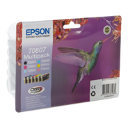 Epson Multipack 6-colours T0807 Claria Photographic Ink