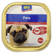 Aro Hondenvoer rund/lever 9 x 300 gram
