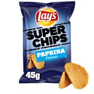 Lay's Super chips paprika 20 X 45 gram