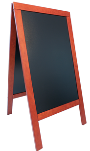 Sandwich Stoepbord 75 x 138 cm mahonie
