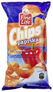 Fine Life Chips Paprika 20 x 200 gram