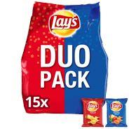 Lay's Duopack Naturel/paprika 15 zakjes