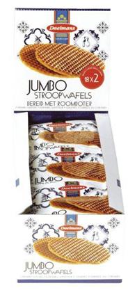 Daelmans Jumbo stroopwafels 2-pack 18 stuks