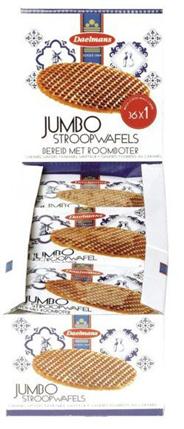 Daelmans Jumbo stroopwafels single 36 stuks