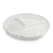 Horeca Select Plastic bord wit 3-vaks 100 stuks