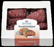 Biefstuk rundvlees 8 x 125 gram (diepvries)