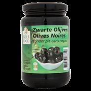 Fine Food Zwarte olijven zonder pit 370 ml