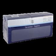 H-Line Servetten 3-laags33x33cm blauw 250 stuks