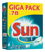 Sun All-in-1 Normaal Vaatwastabletten 78 stuks