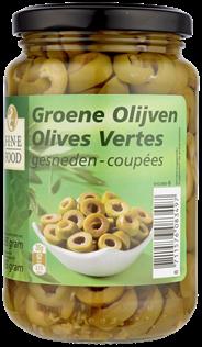 Fine Food Groene olijven gesneden 370 ml