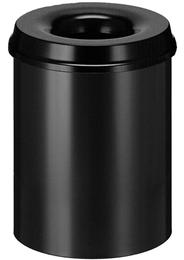 Vepa Bins Vlamdovende papierbak 15 liter zwart