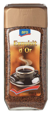 Aro Oploskoffie Exquisit d'Or 200 gram