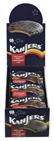 Kanjers Choco caramelwafels 24 x 45 gram