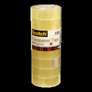 Scotch Transparant Plakband 550 19mmx33m Tape 8 stuks