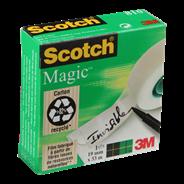Scotch Magic Tape Plakband 19 mm x 33 meter 4 stuks