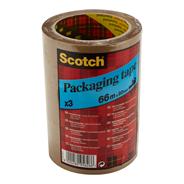 Scotch Classic Verpakkingstape bruin 66 meter x 50 mm 3 stuks