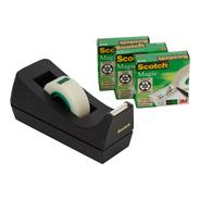 Scotch Dispenser + 4 rollen plakband magic tape