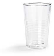 Hovac Dubbelwandig glas cappuccino 30 cl 2 stuks