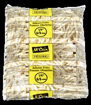 McCain Freez' Chill' frites 9/9 5 x 2,5 kg
