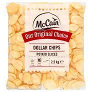 McCain Dollar Chips Potato Slices 2,5 kg