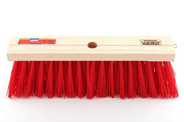 Vero Stadsbezem hout kunstvezel rood 41 cm
