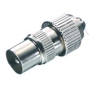 Vivanco Antenne coax plug M metaal
