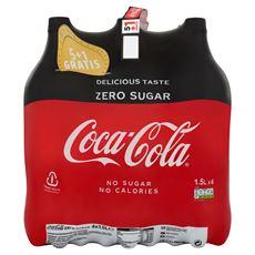 Coca-Cola Zero Sugar 5+1 Gratis 6 x 1,5 L PET Fles