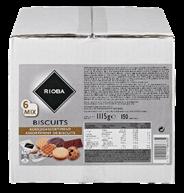 Rioba biscuits 6-mix 150 stuks