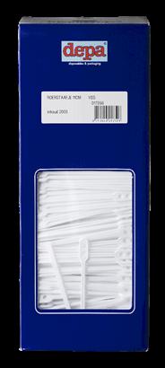 Depa Plastic roerstaafjes wit dispenser 2000 stuks