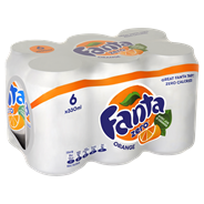 Fanta Orange zero blik 6 x 33 cl
