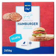 Horeca select Hamburger diepvries 32 x 83 gram