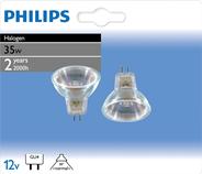 Philips Halogeen reflector MR11 35W 2 stuks