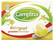 Campina Botergoud roomboter gezouten 16 x 250 gram