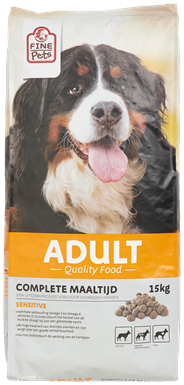 Fine Pets Hond adult sensitive 15 kg